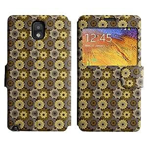 LEOCASE rueda dentada Funda Carcasa Cuero Tapa Case Para Samsung Galaxy Note 3 N9000 No.1007082