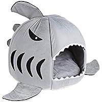 cheap Cama Tiburon Mascota Perro Gato Casa Gatos Perros