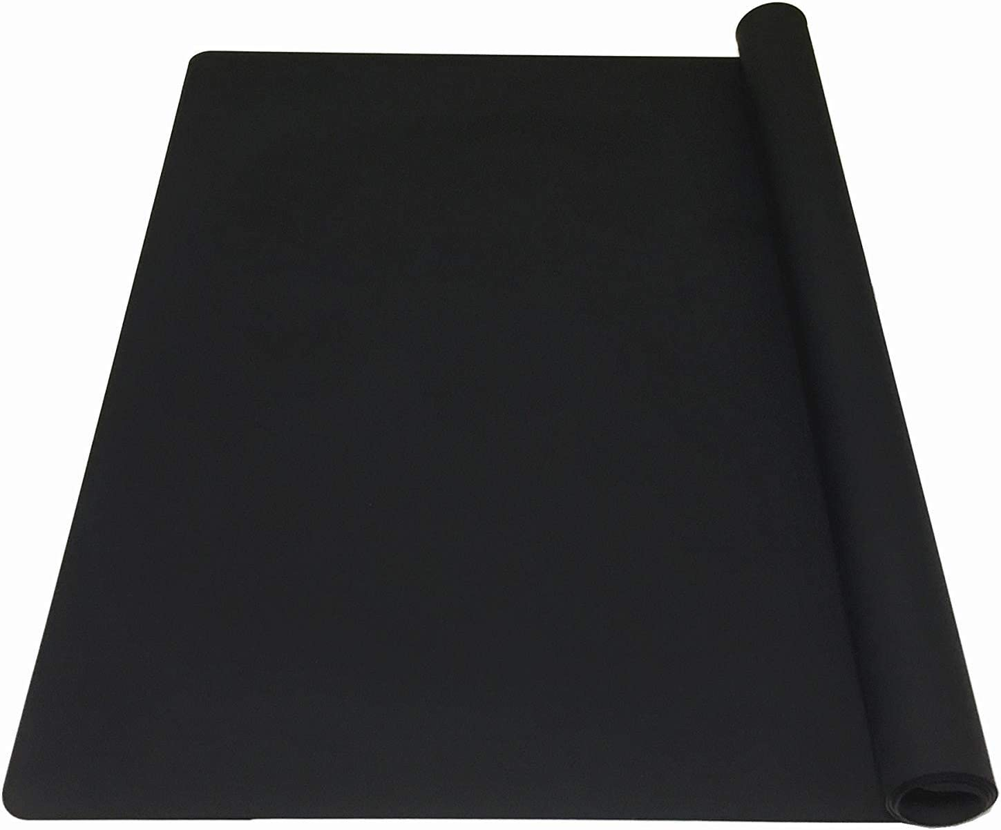 EPHome Extra Large Multipurpose Silicone Nonstick Pastry Mat, Heat Resistant Nonskid Table Mat, Countertop Protector, 23.6''15.75'' (XL, Black)