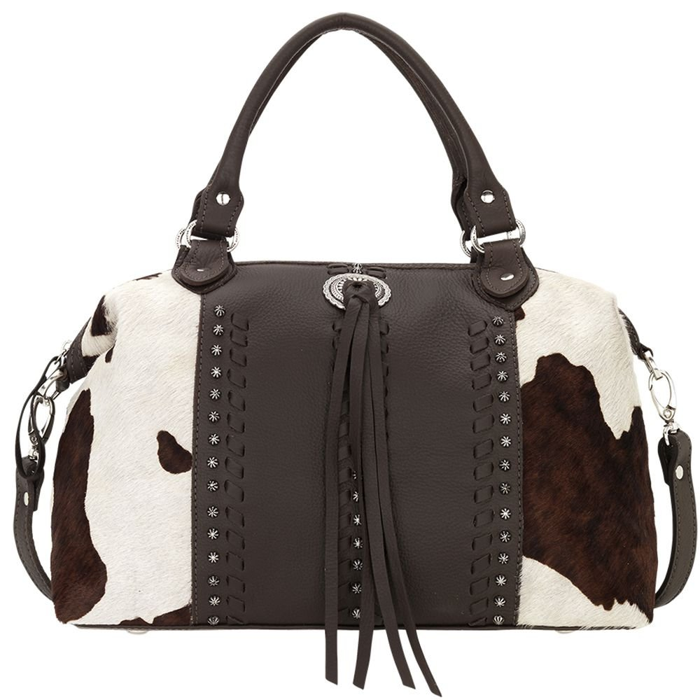 4150227 American West Women's Cow Town Purse - Chocolate