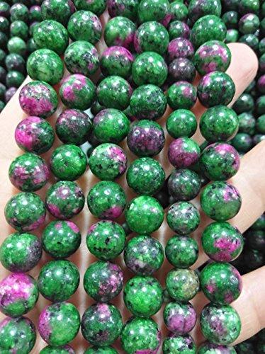 (8mm Ruby Epidote Jasper Beads Jasper Gemstone Round Jasper Beads Genuine Jasper Natural Stone Beads Jasper Beads Full strand 16