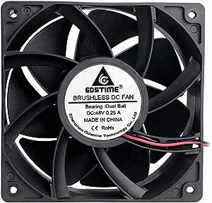 GDSTIME 1238 48V Fan, 120mm x 38mm Dual Ball Bearings DC Brushless Cooling Fan