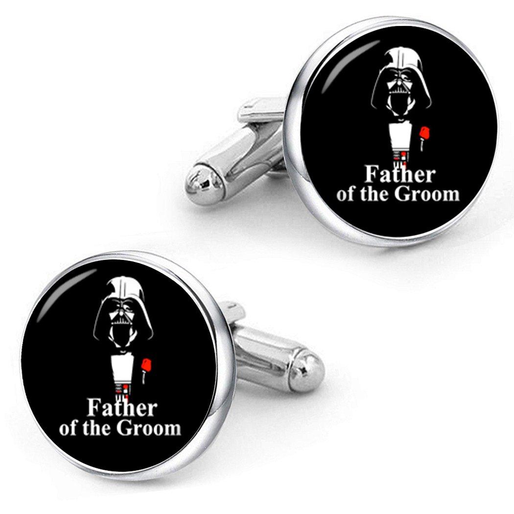 Kooer Father Of The Groom Cufflinks For Star Style Custom Personalized Wedding Cuff Links Jewelry