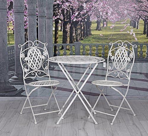 jardín muebles de hierro asiento de varias plazas mesa & sillas Muebles de Jardín Vintage Blanco Palazzo Exclusivo: Amazon.es: Jardín