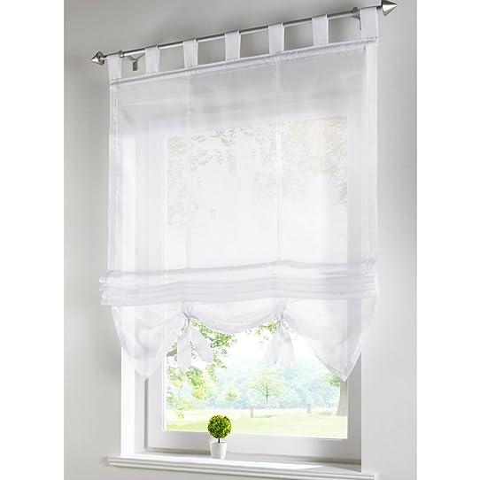 stores romains transparent rideau voilage raffrollo rideaux à
