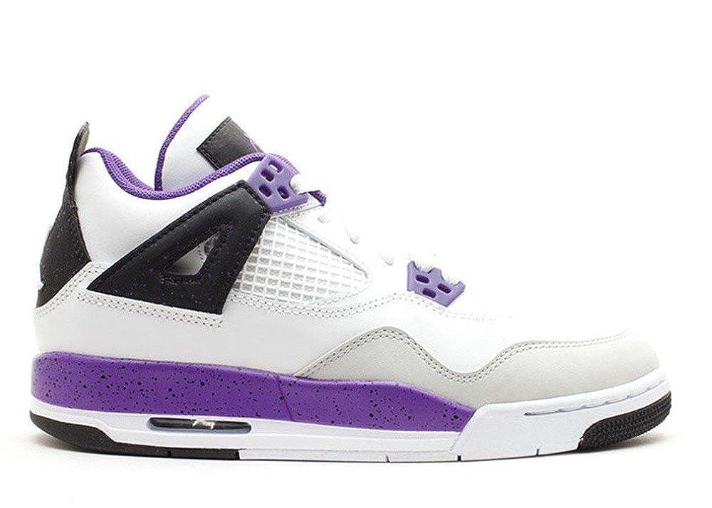 best value 7b4d3 b1a99 Amazon.com  Nike Girlss 487724-108 GIRLS AIR JORDAN 4 RETRO GS  Shoes