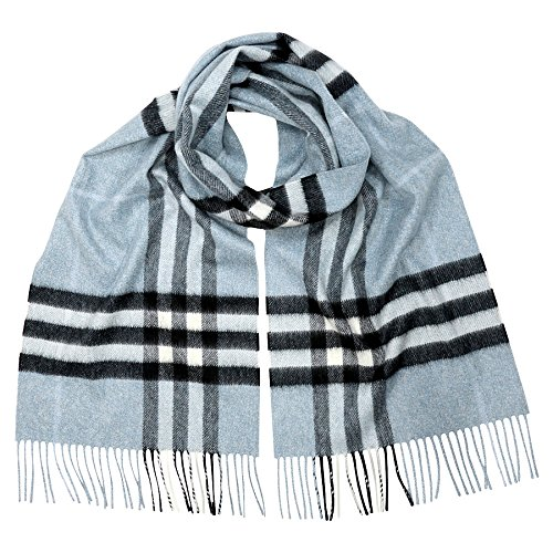 Burberry Women's Classic Check Scarf Dusty Blue by BURBERRY