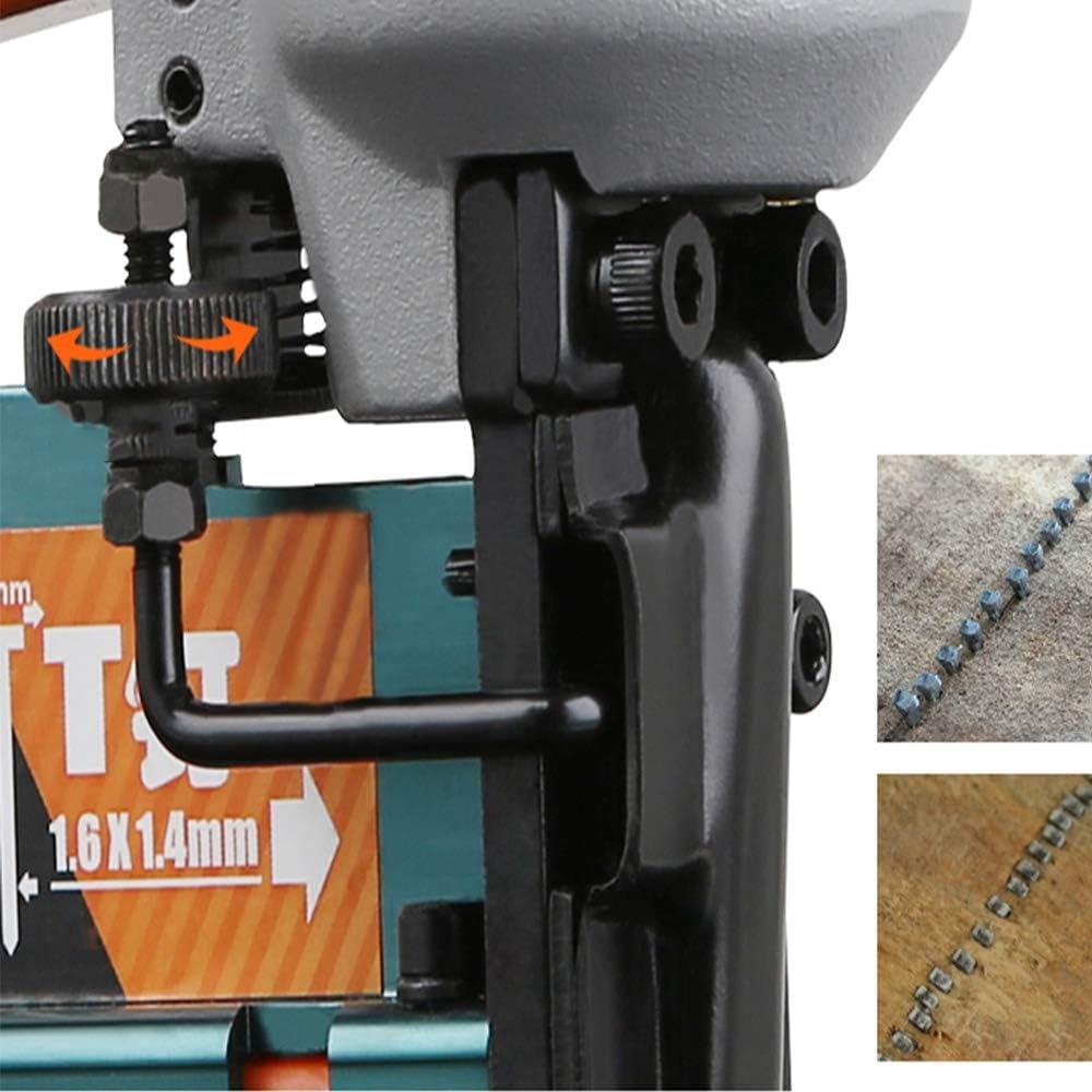Pistolet pour Clous Ergonomique et l/éger avec r/églage de la Profondeur et d/éclenchement du feu Les Clous F Convient pour Les Clous en T XBSD Cloueuse pneumatique 3 en 1 agrafeuse Les Clous 440K.