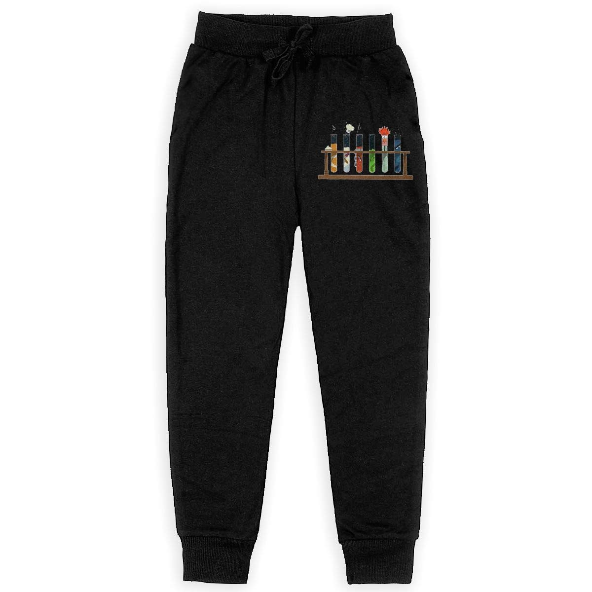 Qinf Boys Sweatpants Science Chemistry Joggers Sport Training Pants Trousers Black