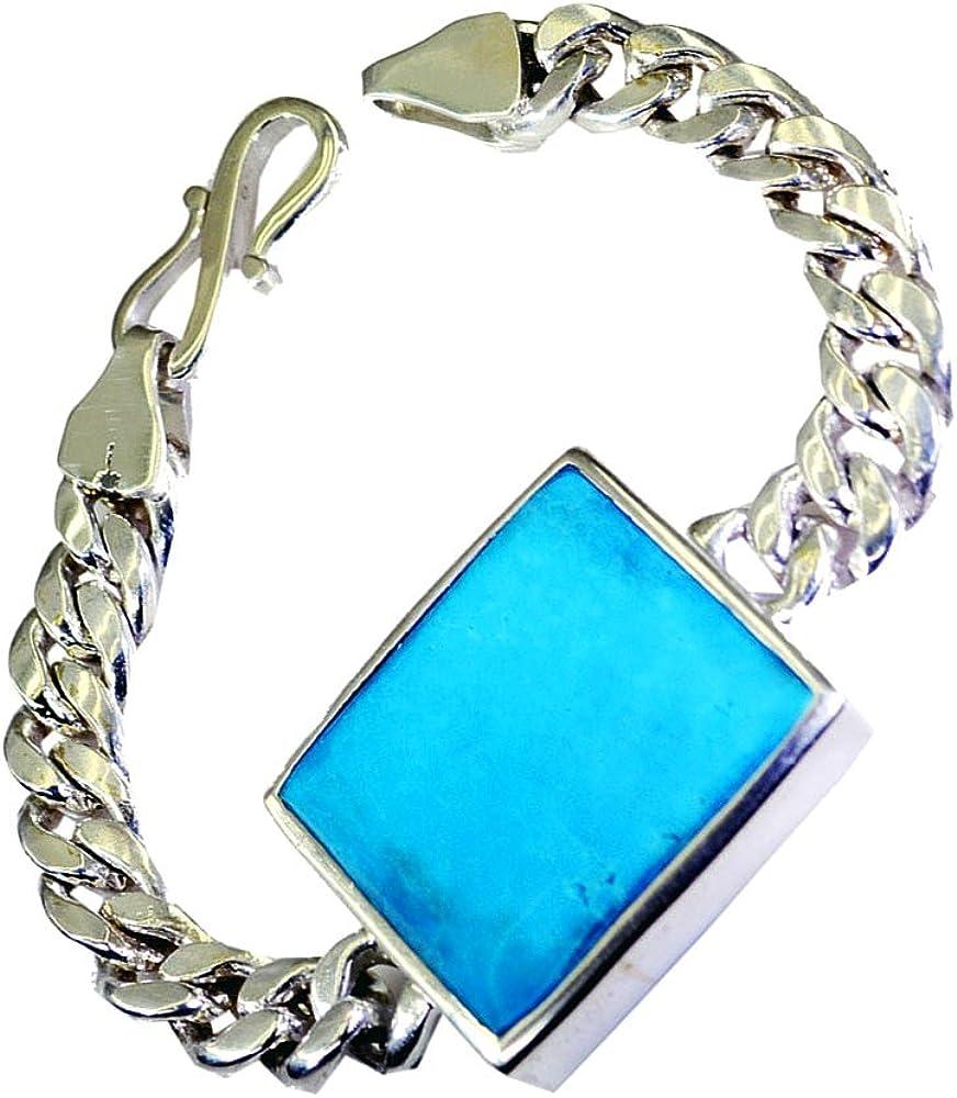 CaratYogi Mystic Quartz Pendant Sterling Silver Charm Healing Bezel Square Shape Gemstone Vintage Handmade Necklace