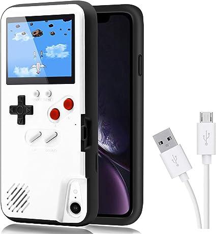 Dikkar Gameboy Case Für Iphone Retro Schutzhülle Mit Eigener Stromversorgung 36 Kleine Spiele Farbdisplay Videospieletui Für Iphone X Xs Max Xr 6 7 8 Plus 11 11 Pro 11 Pro Max Küche Haushalt