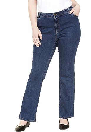 395889d3c51b2 Jessica London Women s Plus Size Tall True Fit Bootcut Jeans - Medium  Stonewash