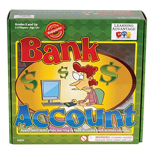 Learning Advantage Bank Account - Money Game for Kids - Teach Budgeting, Managing Money, Banking and Math
