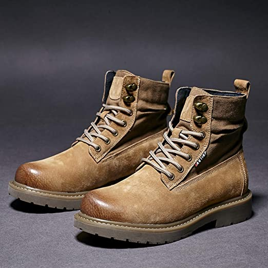 HUyi Casual High-Top Work Shoes, Wild