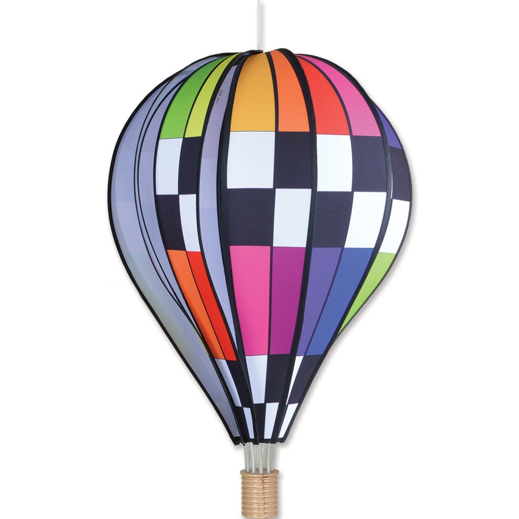 Premier Kites 26 in. Hot Air Balloon - Checkered Rainbow by Premier Kites
