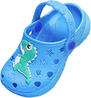 Toddler Boys Clog Dinosaur Garden Shoes for Girls Lightweight Slip On Water Beach Pool Shoes