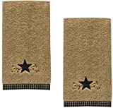 Park Designs Star Vine Terry Embroidered Cotton Fingertip Towel - Set of 2
