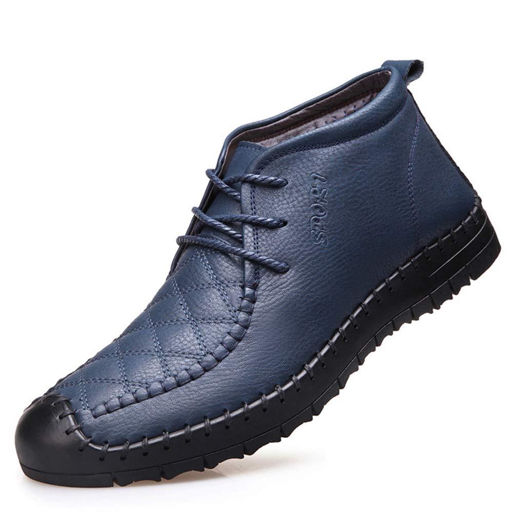 XI-GUA Herren Freizeit Schuhe Bequeme warme weiche Schuhe Flache Rutschfeste Arbeits Schuhe