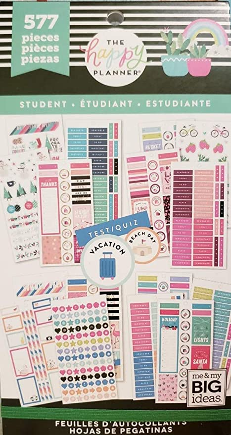 The Happy Planner Value Pack Stickers Student 577