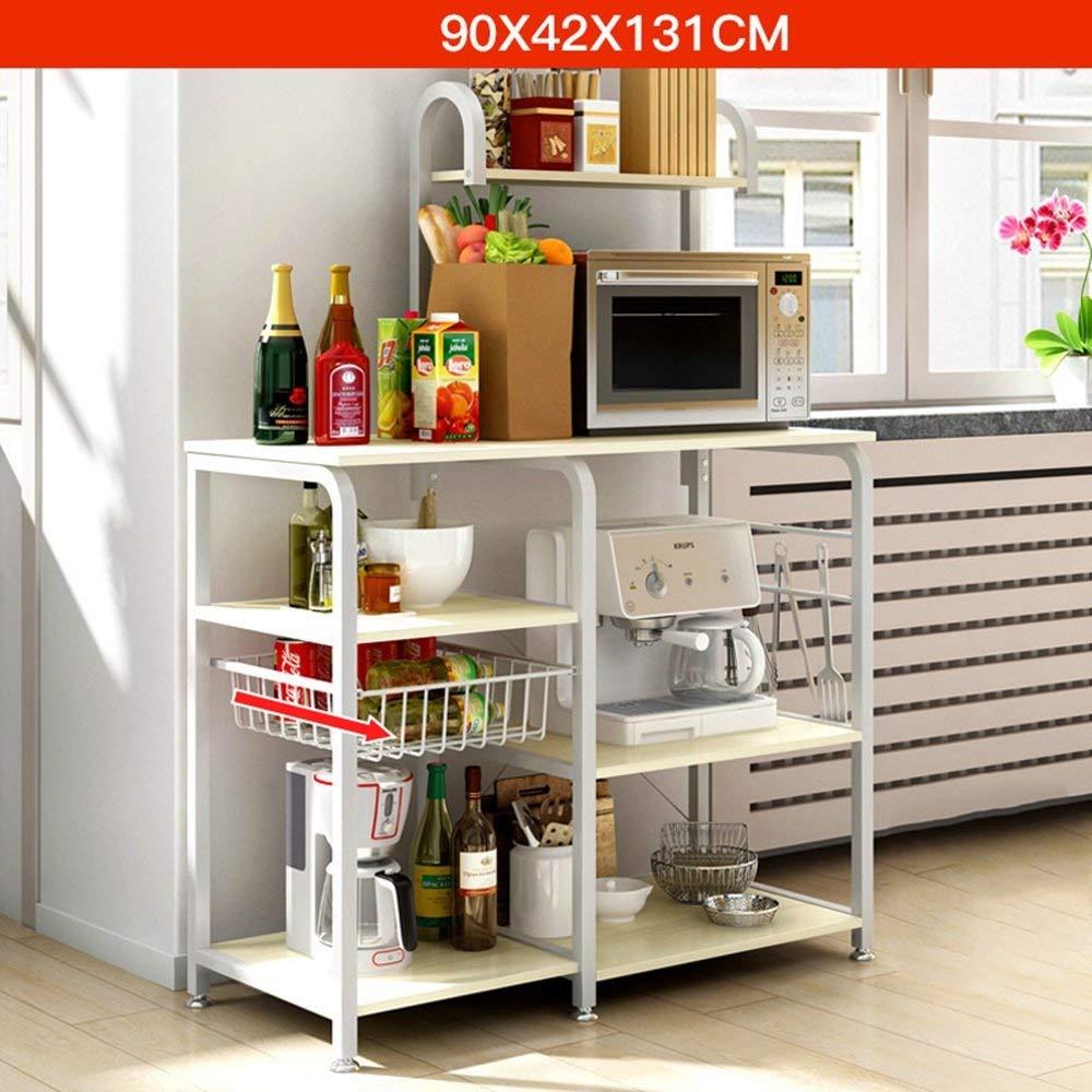 Eeayyygch estantería de Cocina Rack Horno microondas Rack ...