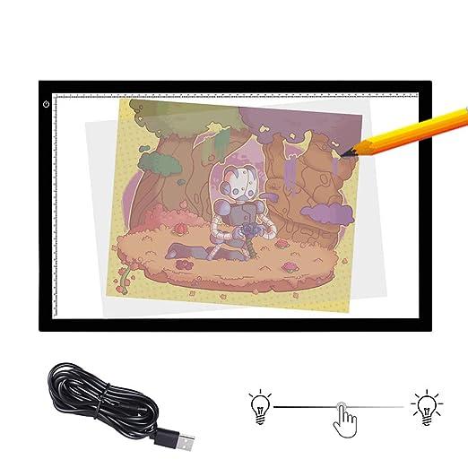 SHENGY Mesa de luz LED, Bandeja de Dibujo A2, Caja de luz de ...