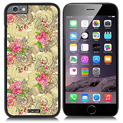 New Apple iPhone 6 s 4.7-inch CocoZ® Case Beautiful Rose pattern PC Material Case (Black PC & Rose Flowers - Sale Burberry Girls