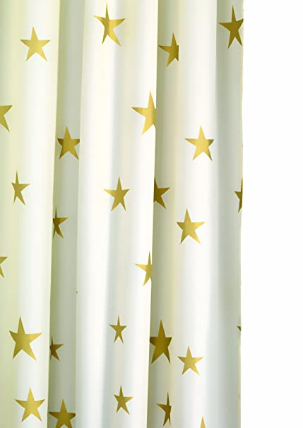 Croydex Af285603Yw Shimmer Gold Stars Shower Curtain White Amazoncouk DIY Tools