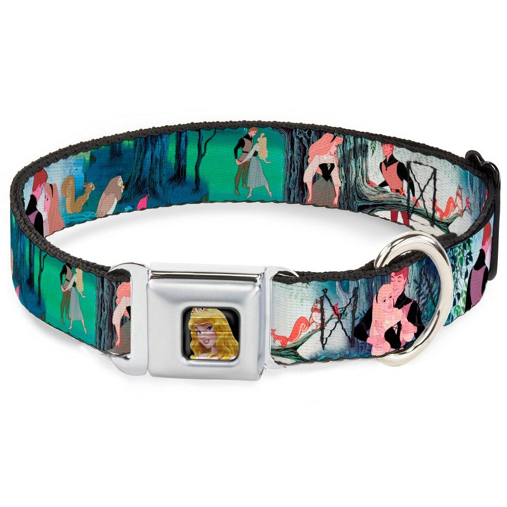 Buckle-Down DC-WDY017-WM DYZ Sleeping Beauty Full color Dog Collar, WIDE-Medium 16-23