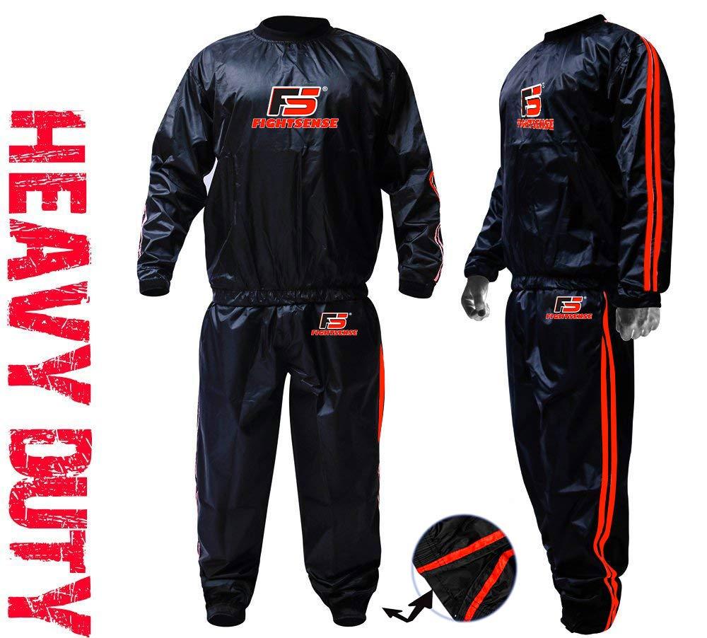 FIGHTSENSE MMA サウナ スウェットスーツ 裂けない トラック 減量 スリミング フィットネス ジム エクササイズ トレーニング Medium オレンジ B07PWBSWQ9