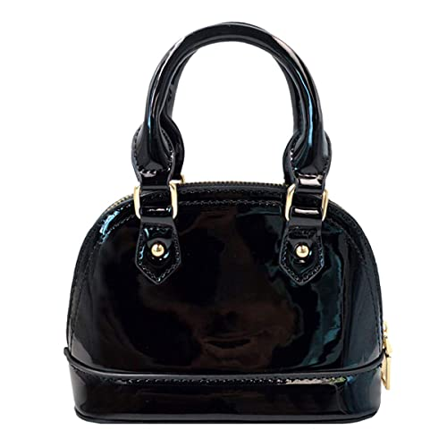 84522c3171ad Goodbag Boutique Women Fashion Tote Handbag Patent Leather Crossbody Bag  Mini Clutch Chain Shoulder Shell Purse
