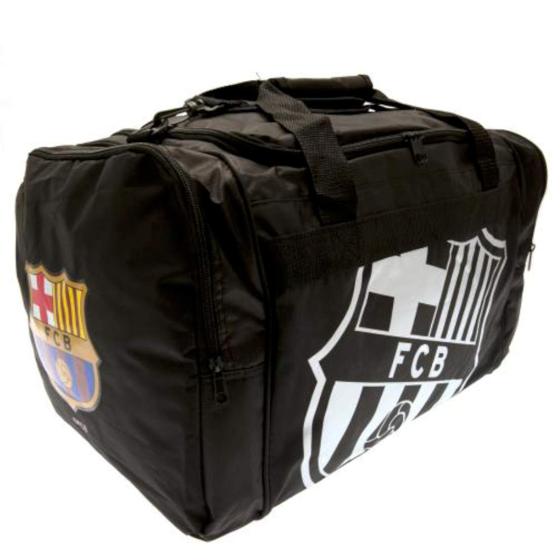 Official FC Barcelona Black React Holdall FOREVER COLLECTIBLES