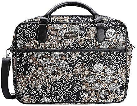 Signare Gobelin Laptop Tasche Laptoptasche 15.6 Zoll, Notebook Tasche 15.6 Zoll Business Taschen Damen mit Farbmuster Designs (Klimt)