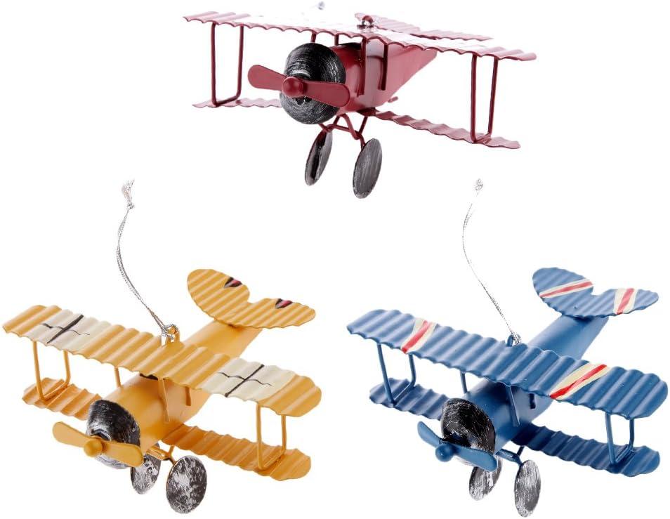 Baoblaze 3Pcs Mini Biplane Models Plane Airplane Figure Vehicle Model for Kids Toys