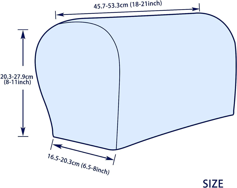 hecha de sp/ándex Par de fundas Subrtex para el reposabrazos del sof/á no se desliza