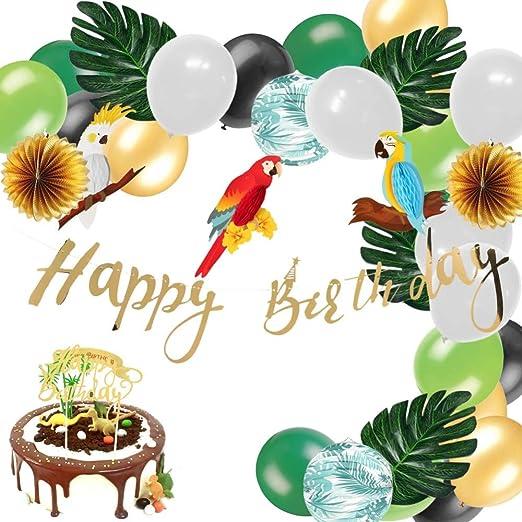 Juego de decoración Tropical para Fiesta de cumpleaños ...