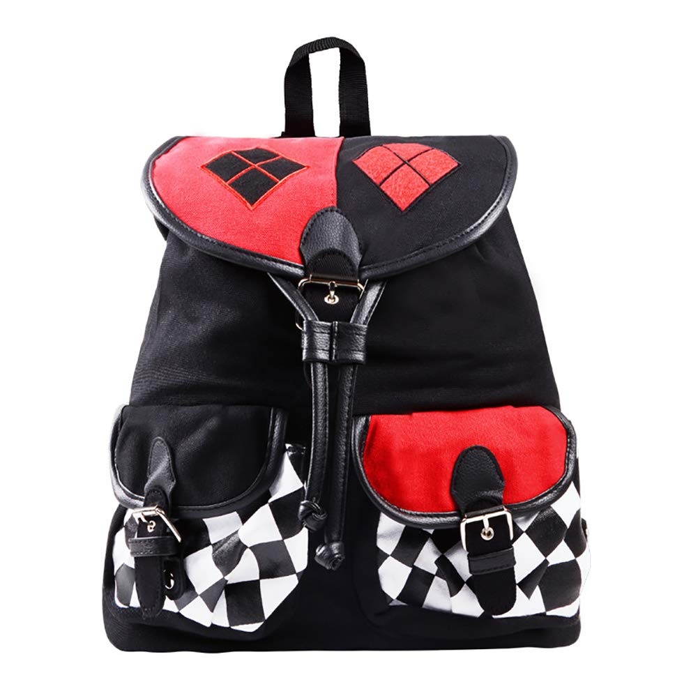 Harley Quinn Backpack Joker Comics Suicide Squad Batman Bag with Keychain  (BACKPACK ONLY)