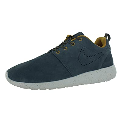 Nike Rosherun Suede Women Shoes Sneakers Color: Dark Armory Blue/Gold Suede/Dusty Grey 616747-400