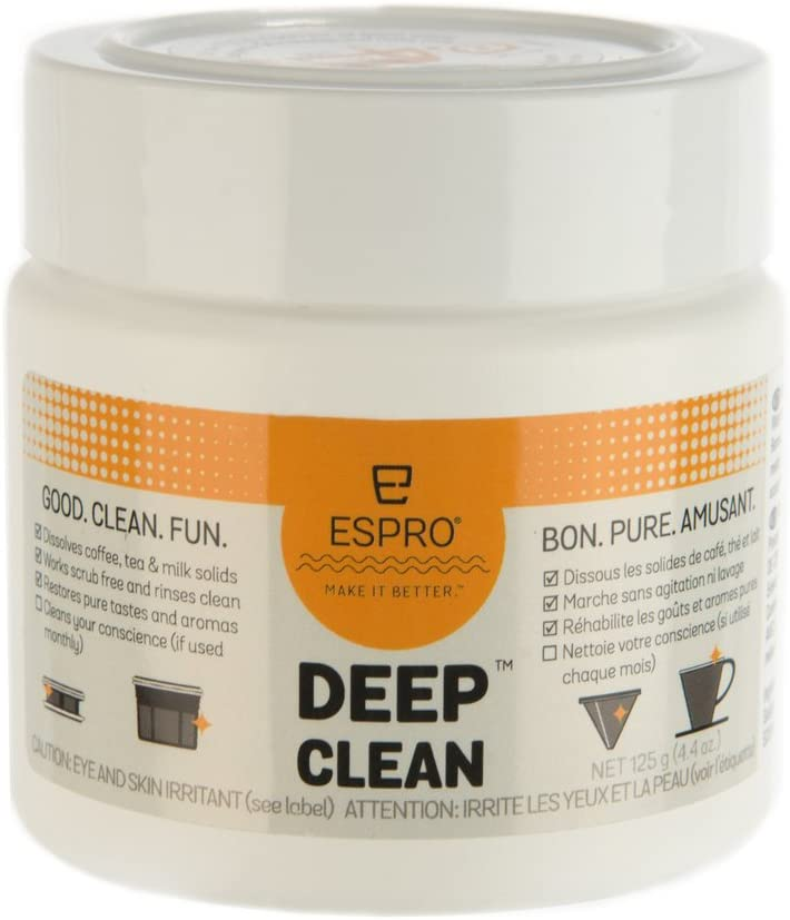 Espro 4104 Deep Coffee und Tea Gear Maintenance Cleaning Kit, 4.4Oz, White