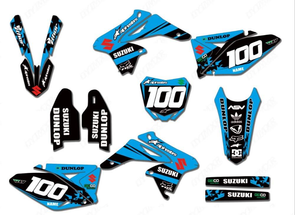 MX Graphics Stickers Kit Decals Decals Decals for Suzuki RMZ250 RMZ