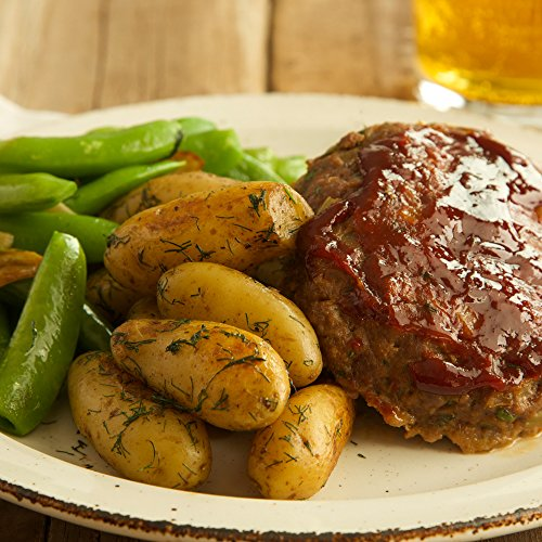 Individual Meatloaves with Dill Fingerling Potatoes and Sugar Snap Peas by Chef'd (Dinner for (Whole Food Meal)