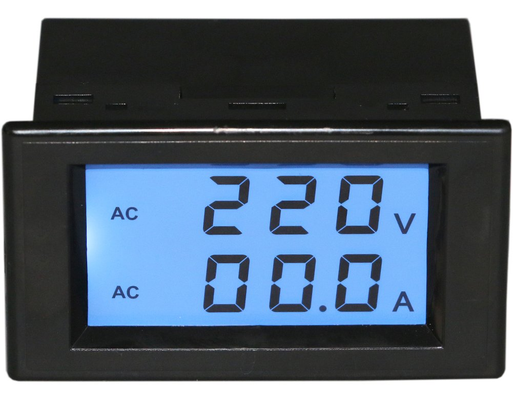 Yeeco Digital Ac Voltmeter Ammeter 80 300v 100a Amp Volt Panel Meter Wiring Diagram View Voltage Current Monitor 110v 220v Lcd Dual Display Ampere Power