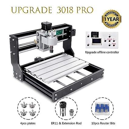 HUKOER 3018 Pro CNC Machine de Gravure laser engraving machine,CNC 3018 Pro GRBL Control