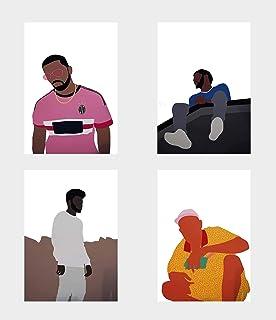 95b1fc244b5 Wall Art Decor Music Stars Singers Songwriters Drake Juventus J Cole Khalid  Tyler The Creator Poster