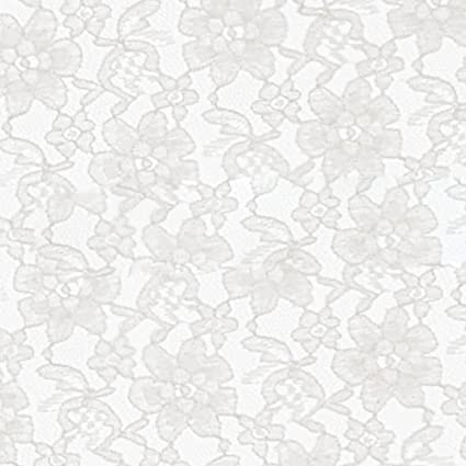 amazon com white raschel lace fabric sold by the yard fb