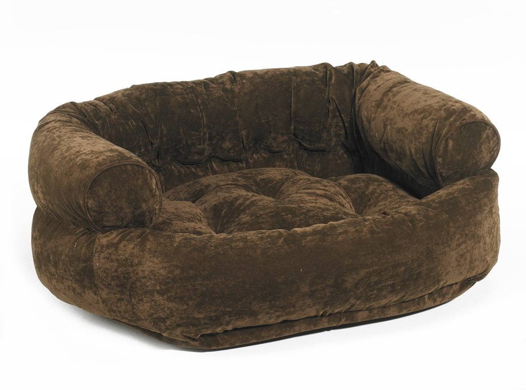 brown dog sofa