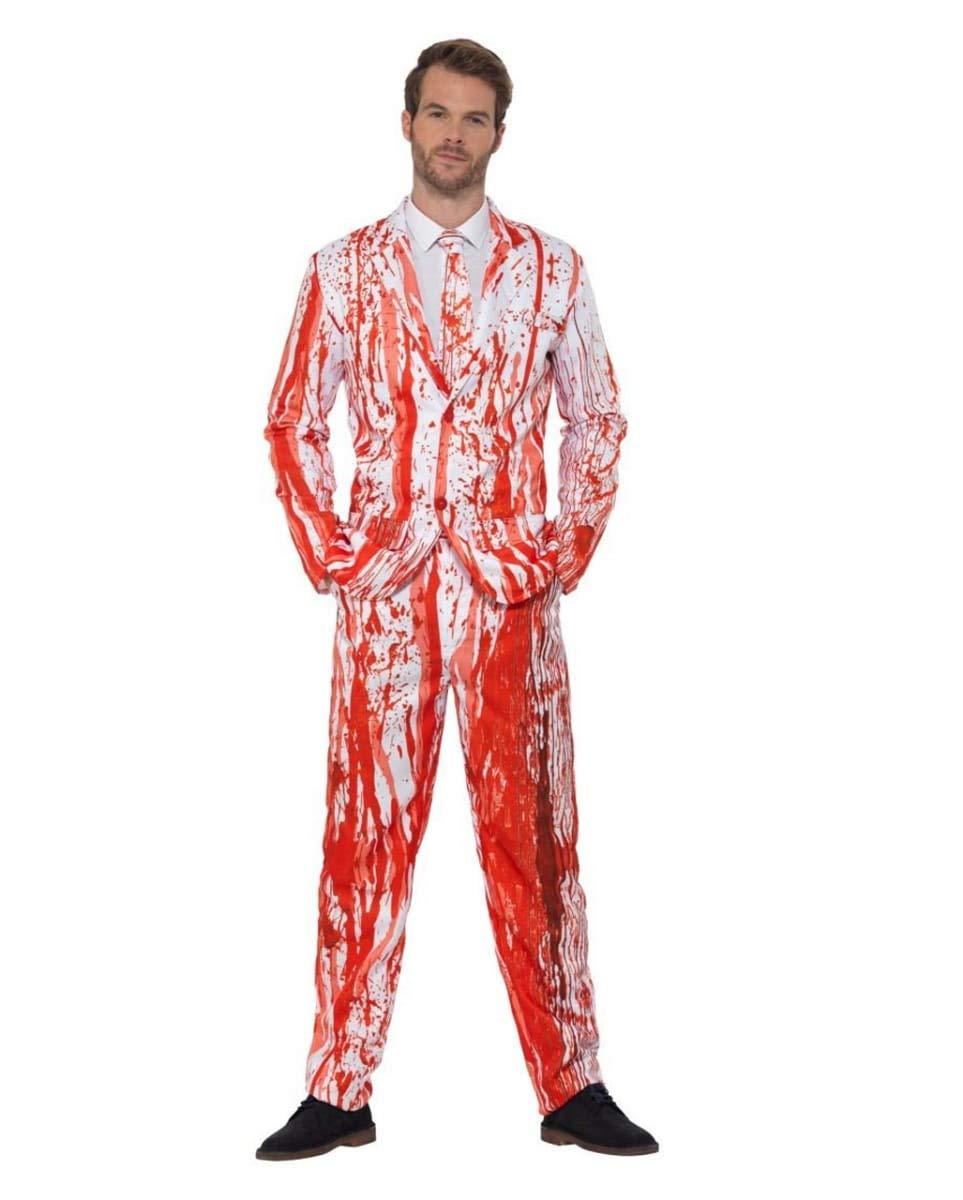 Horror-Shop Anzug mit Blutspritzer und Krawatte für Halloween M M M 9d567f