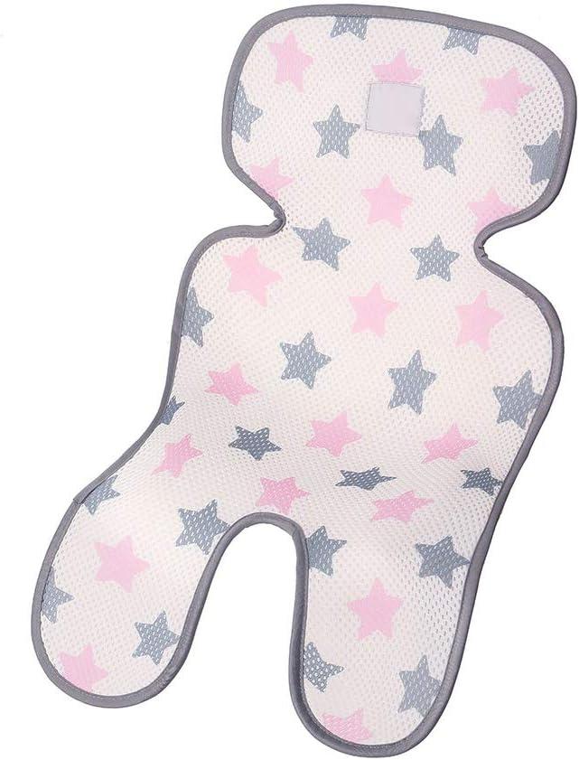 1# ZOOMY Tappetino per Passeggino Estivo Traspirante 3D Traspirante Cuscino per Sedile Cuscino Comodo per Bambini