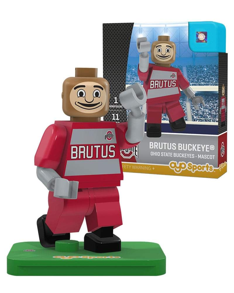 NCAA Ohio State Buckeyes Brutus Buckeye Mascot Gen 2 Mini Figure Small Black