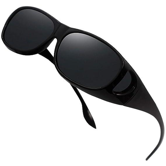 Perfectmiaoxuan Gafas de Sol Polarizadas para llevamos gafas graduadas para hombre mujere/Gafas de sol cubren gafas graduadas Excelentes para Ciclismo ...
