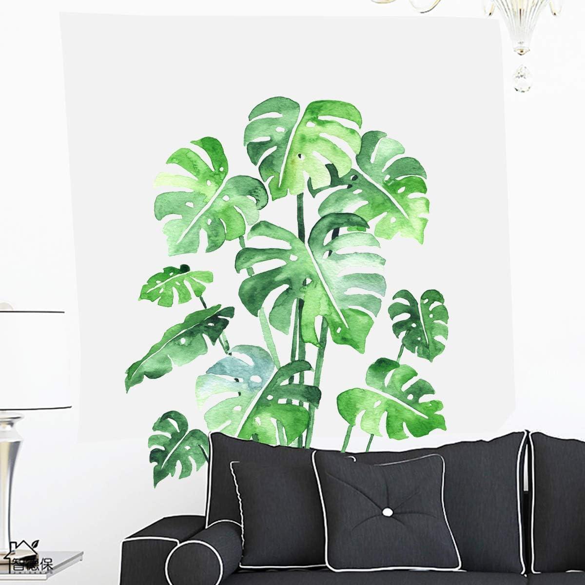 Matte Vinyl sticker Large leaf Plant